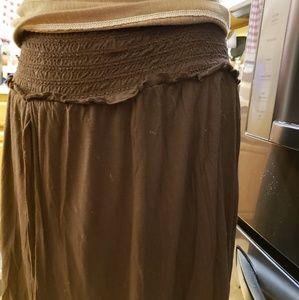 FREE PEOPLE, Brown, Skirt with cute layers, S